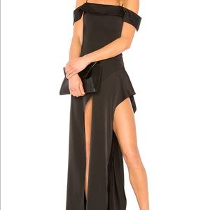 Revolve NBD Que Onda Gown in Black